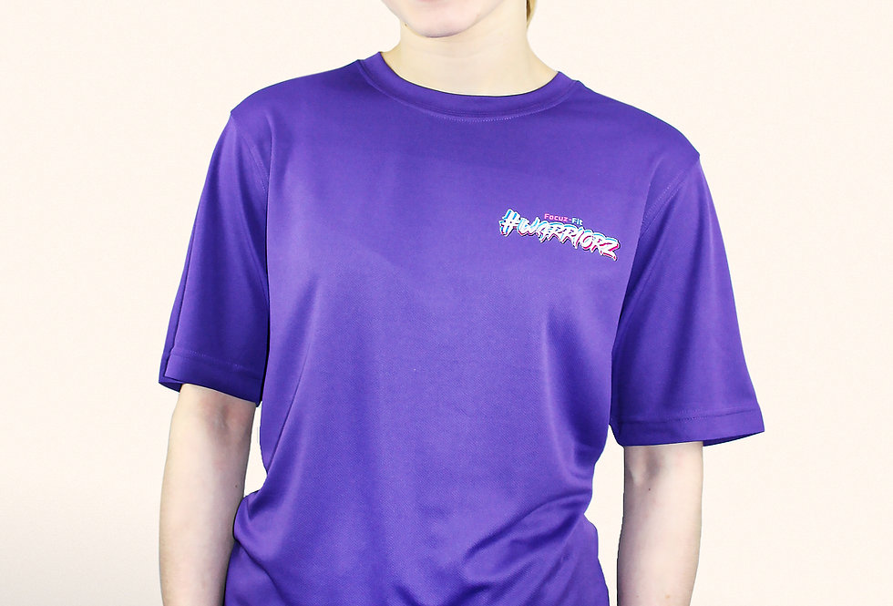 PURPLE- #WARRIORZ T-Shirt