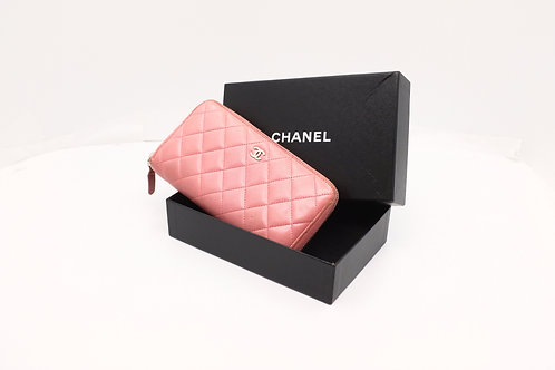 Chanel Matelasse Long Wallet in Pink