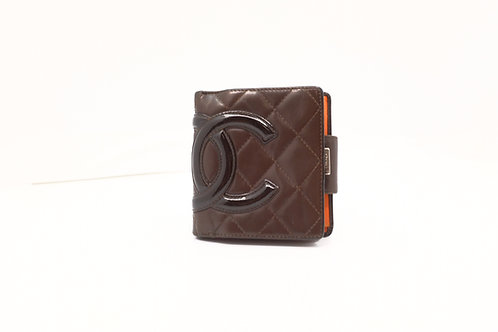 Chanel Cambon Compact Wallet in Orange