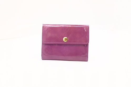 Louis Vuitton Compact Coin Case in Vernis Purple Leather