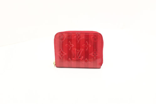 Louis Vuitton Zippy Wallet in Striped Red Vernis