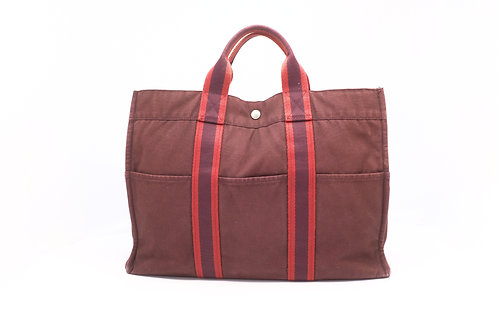 Hermes Fourre-tout tote brown