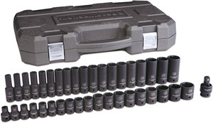 "GEARWRENCH 39 Pc 1/2"" DR Metric Master Impact Socket Set"