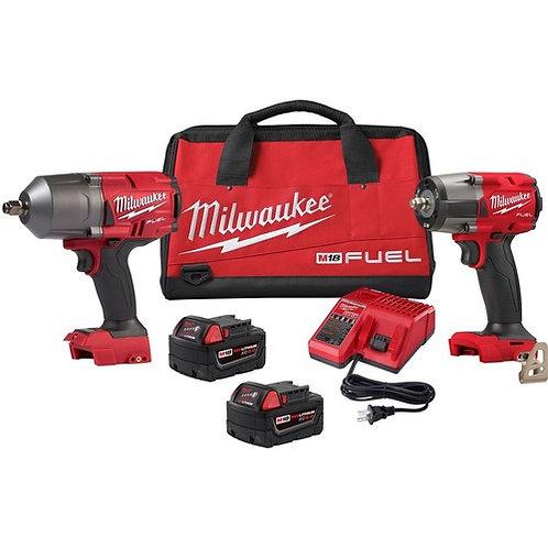 """Milwaukee M18 High Torque 1/2"""" and 3/8"""" Impact Kit"""