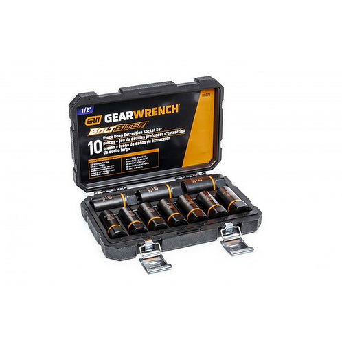 """Gearwrench 10 Pc. 1/2"""" Drive Bolt Biter™ Deep Extraction Socket Set"""