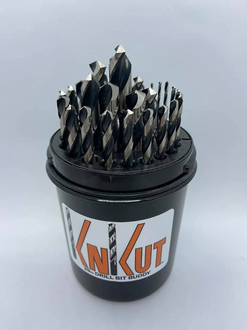 "KnKut 29 Piece Drill Buddy Jobber Length Drill Bit Set 1/16""-1/2"" by 64ths"