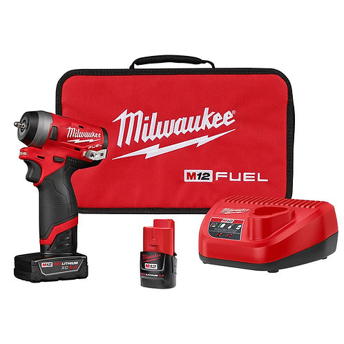 """M12 FUEL™ STUBBY 1/4"""" IMPACT WRENCH KIT"""