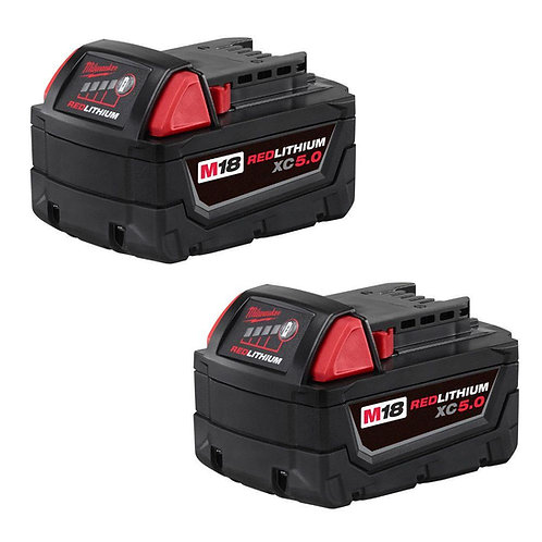MILWAUKEE 48-11-1852 M18 5.0 2-Pack Batteries