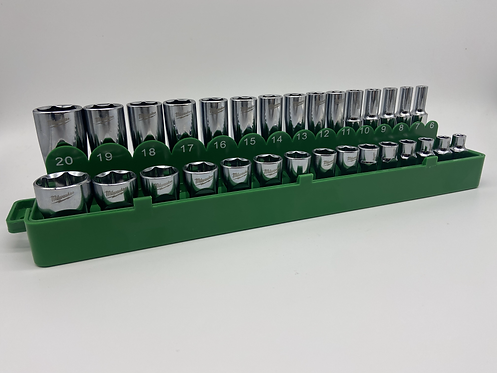 "Green Magnetic 3/8"" Socket Holder"