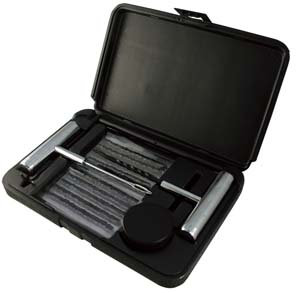 45pc Tire Repair Kit with Steel Tools