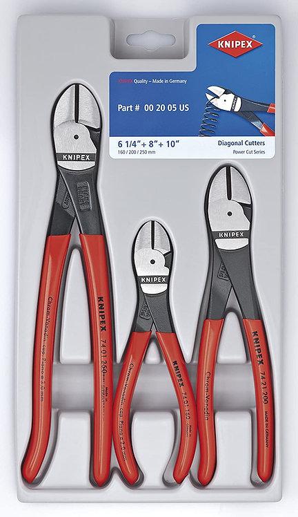 Knipex 3pc Diagonal Cutter Set