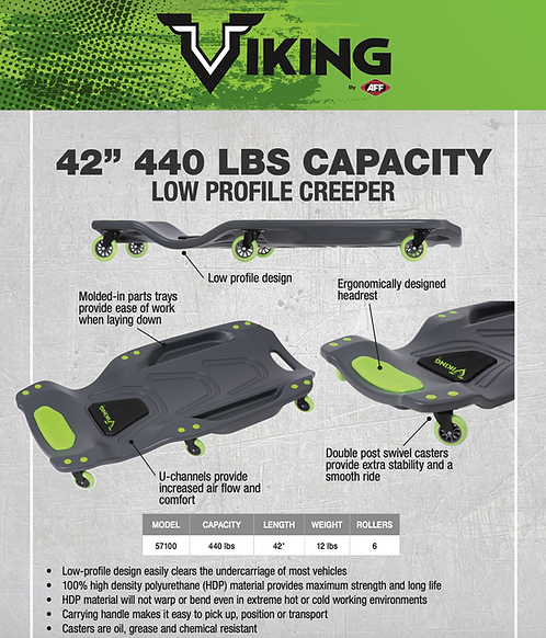 Viking Low Profile Creeper