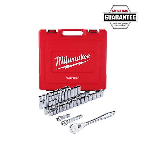 """47 pc 1/2"""" Socket Wrench Set – SAE & Metric"""