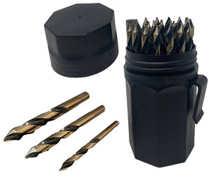 Steel Vision 29 Piece Stepped Cutter Drill Bit Set