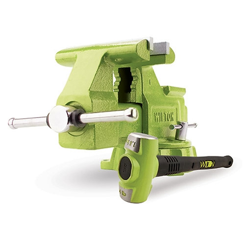 """Wilton BASH Green 6.5"""" Utility Bench Vise and Sledge Hammer"""