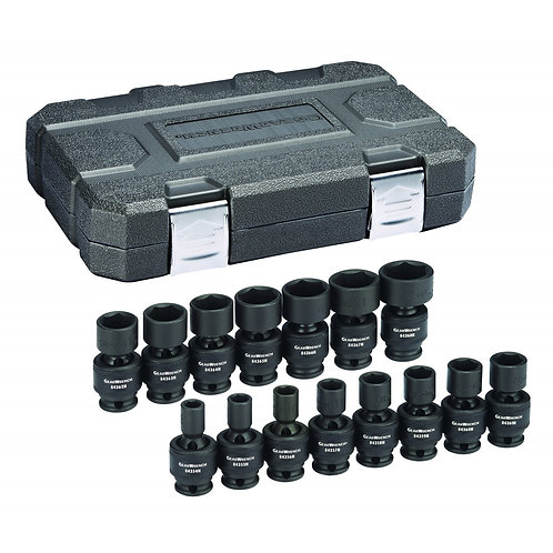 "Gearwrench 15 Pc. 3/8"" Drive 6 Point Standard Universal Impact Metric Socket Set"