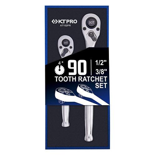 KTPro 2pc Combo pack 90 Teeth Ratchet set