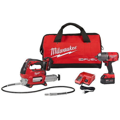 "M18 FUEL™ GENII 1/2"" HTIW W/ RING KIT W/ GREASE GUN PACK-IN"