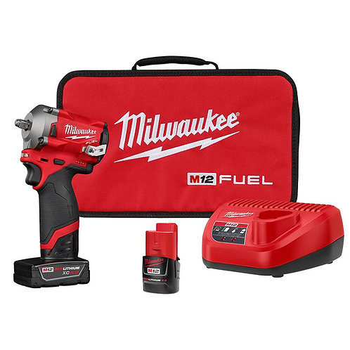 """M12 FUEL™ STUBBY 3/8"""" IMPACT WRENCH KIT"""