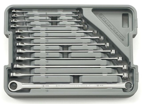 Gearwrench 12 Piece XL 0º Gear and Box Ratcheting Wrench Set Metric
