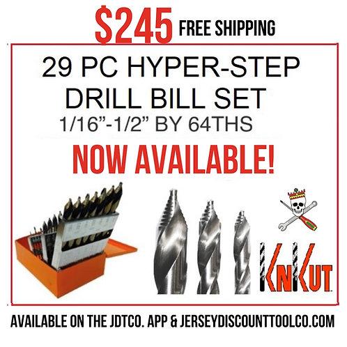 KnKut 29pc Hyper-Step Drill Bit Set