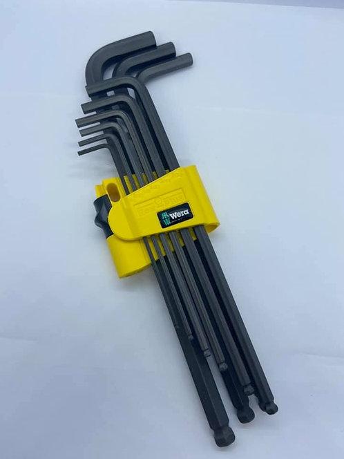 Wera 950/9 L-Key Hex Set SAE