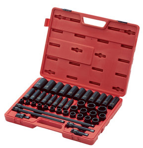 "SUNEX 43Pc 1/2"" Dr. Metric Master Impact Socket Set"