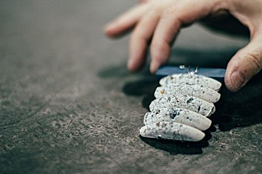 brooch, maker's hand