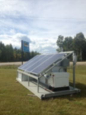 Solar de-watering skid built for an oveseas project by Sundog Solar