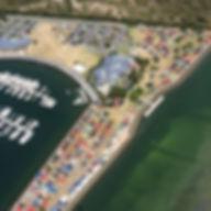 Aerial shot from chopper Harrigans Rd an