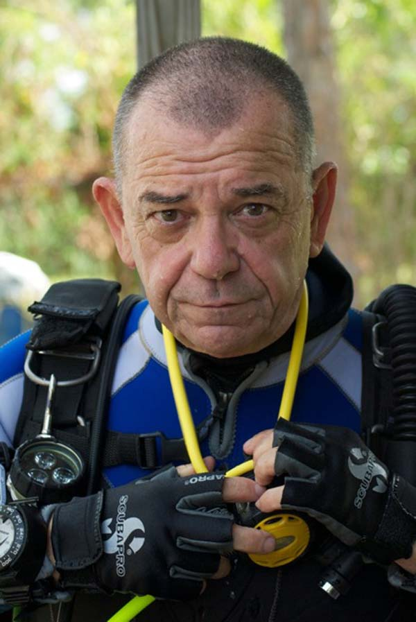 Cpt Jim Driscoll, diving instructor