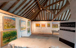 paintings in the Milking Shed
