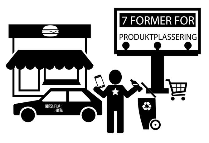 7 former for produktplassering
