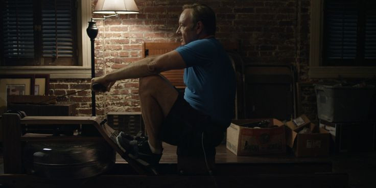 Frank Underwood using WaterRower