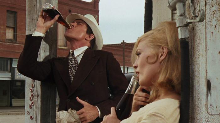 Bonnie & Clyde drinking Coca-Cola