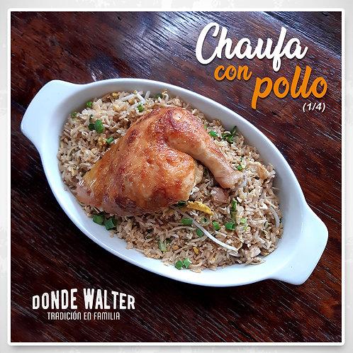 Chaufa con 1/4 Pollo a la Leña