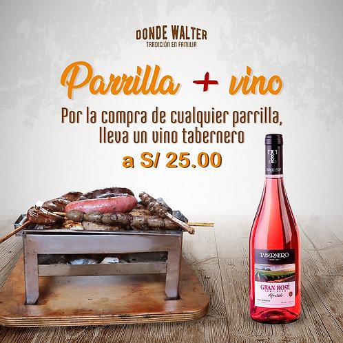 Parrilla + Vino