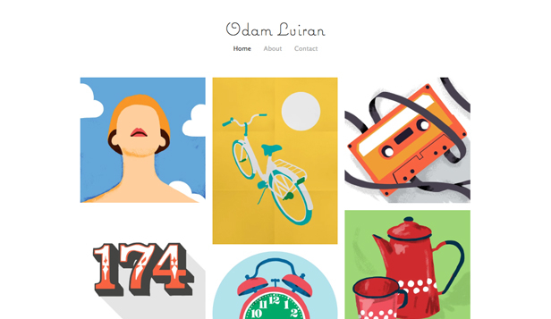 Visual Arts website templates – Illustrator Portfolio