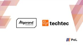 株式会社techtecとAlgorand財団が提携、「FutureFi」目指すAlgorandをPoLで取り扱い開始
