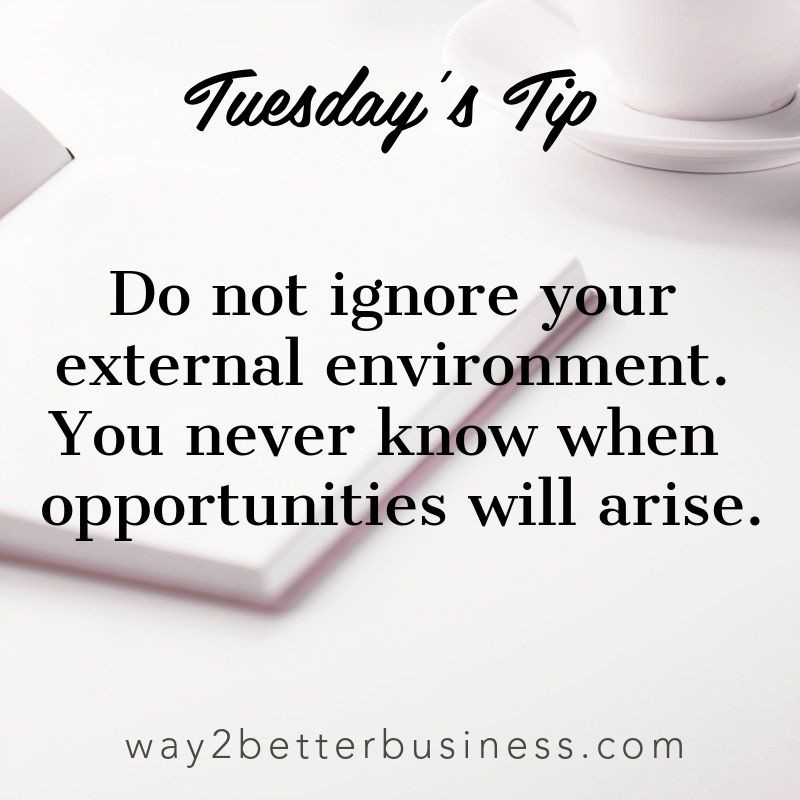 Your external environment can create new opportunities
