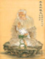 סיני זקן מחזיק את האי צינג