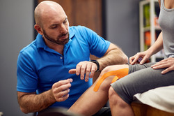 Kinesiology tape therapy