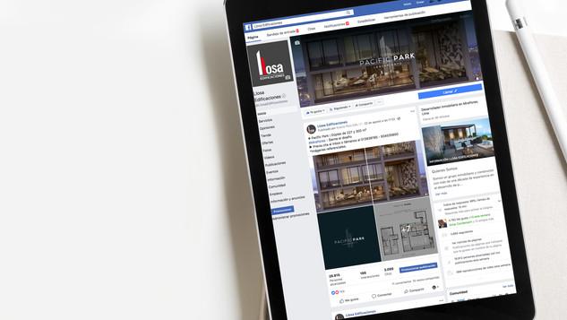 Página de facebook inmobiliaria