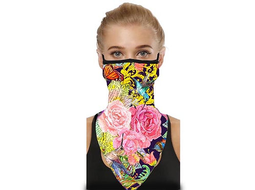 Designer Mask Scarf - Hummingbird Song