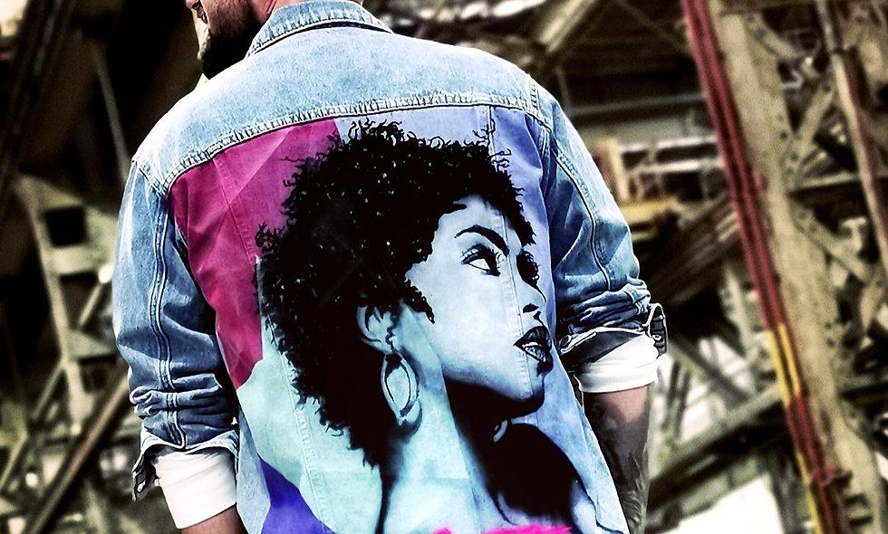 Oversized Custom Denim Jacket Lauryn Hill