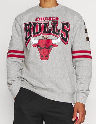 NBA Chicago Bulls Alloverprint Crewneck