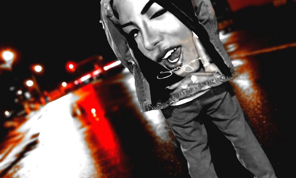 Oversized custom Denim Jacket Aaliyah