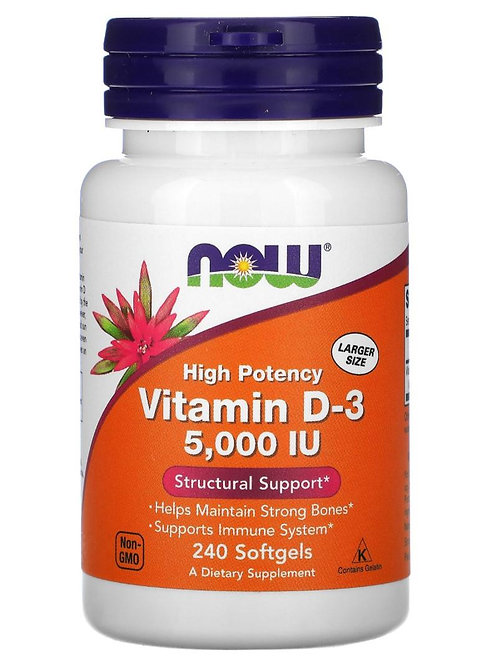 Vitamin D-3 (5000 IU) - 240 softgels