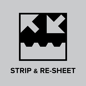 Click strip and re-sheet button