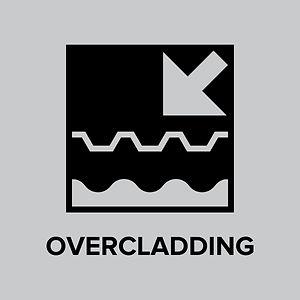 Click over-cladding button